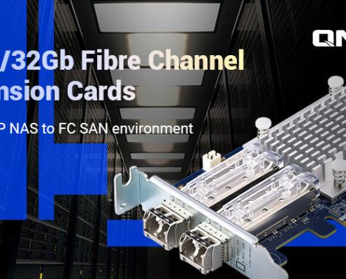 QNAP prezentuje dwuportowe karty 16Gb/32Gb Fibre Channel